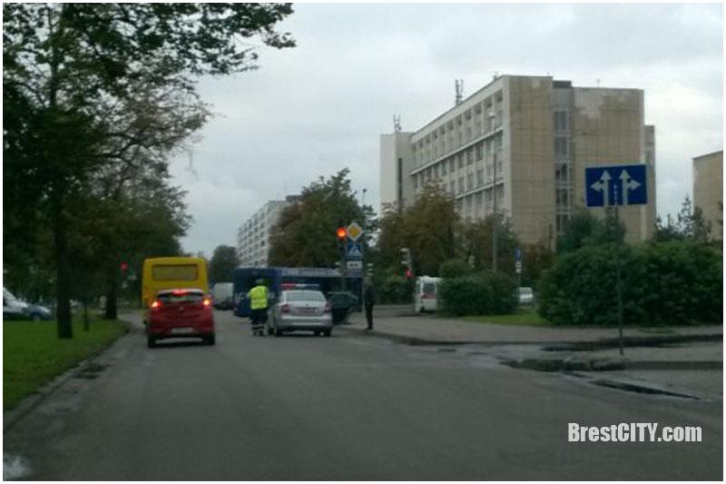 Авария в Бресте на Мицкевича