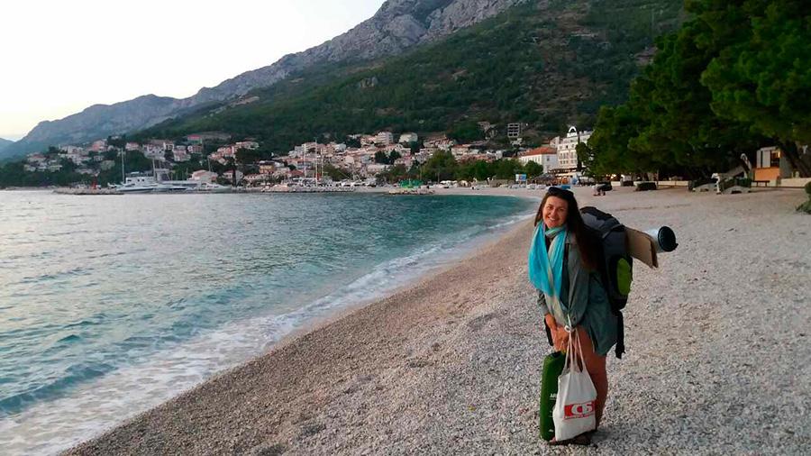 Брестчанка путешествует по Европе в одиночку и автостопом