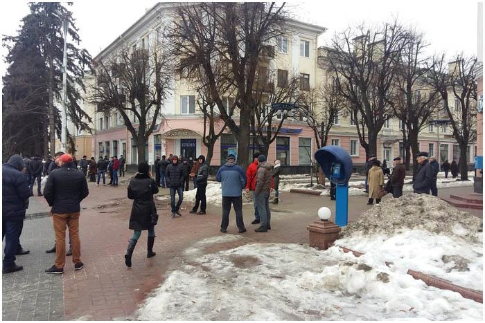 Против декрета №3 в Бресте вышли около 100 человек