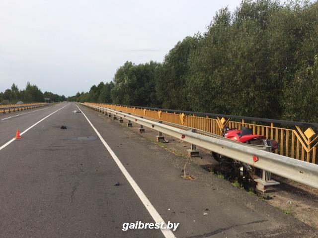 Авария с мотоциклистом в Дрогичинском районе