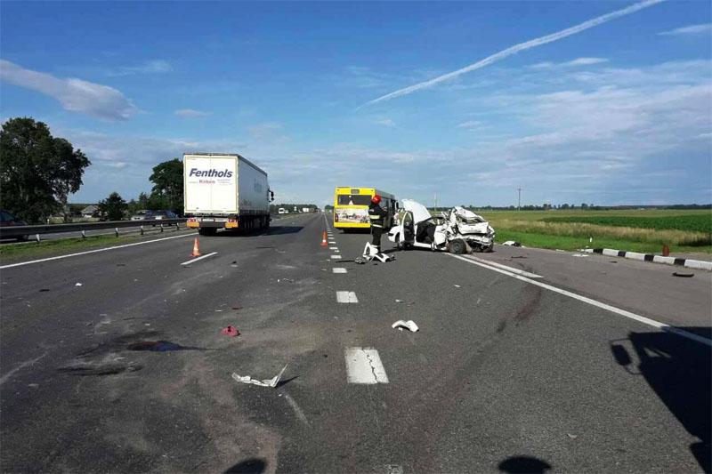Авария в Кобринском районе 16 июля 2017
