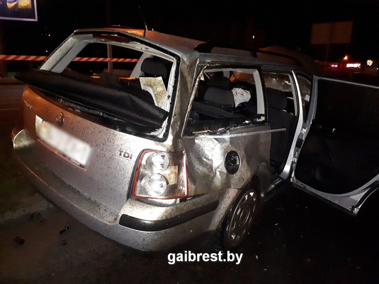 Авария ночью на Ковалевке 27 ноября 2017