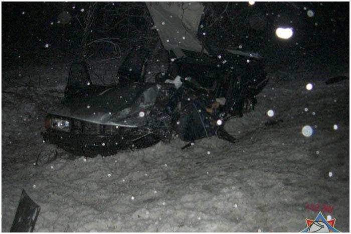 Авария возле деревни Черни 14 января 2017