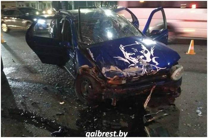 Авария на перекрестке Ленина-Машерова в Бресте