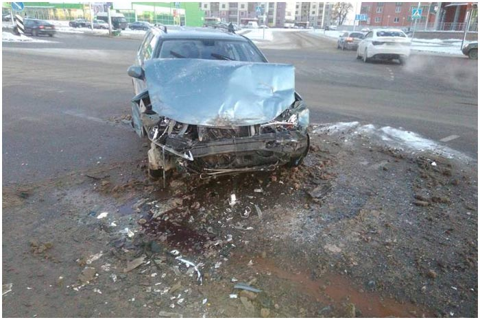 Авария с участием маршрутки в Бресте 6 января 2017