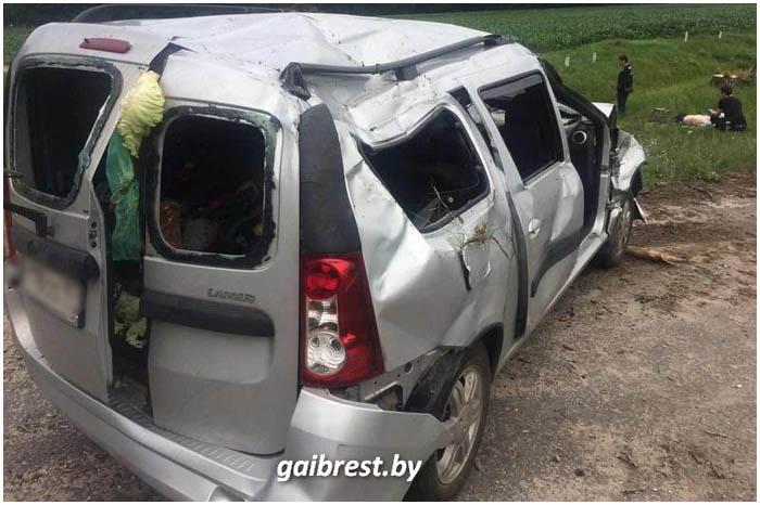 Авария в Пинском районе 11 июля 2017