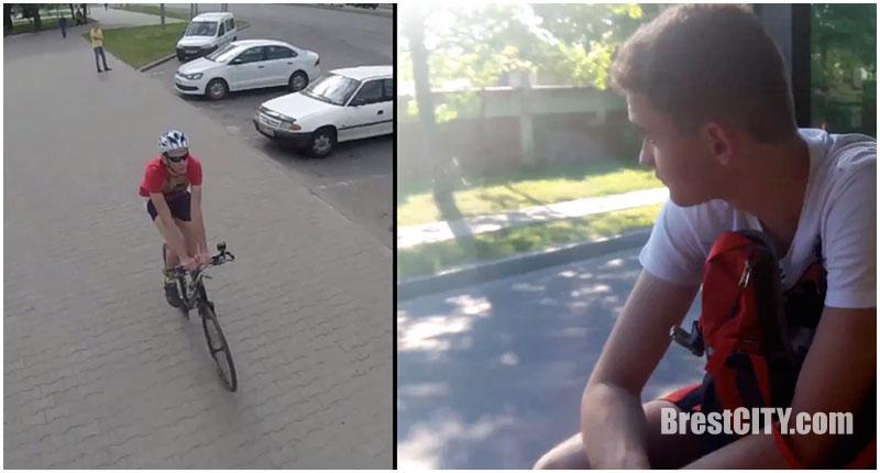 Велосипедист или автобус