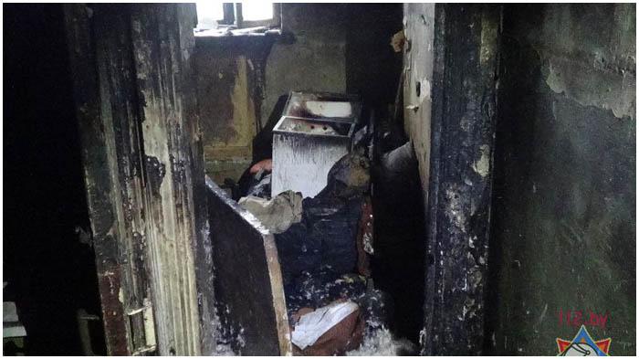 Пожар на улице Бауманской в Бресте