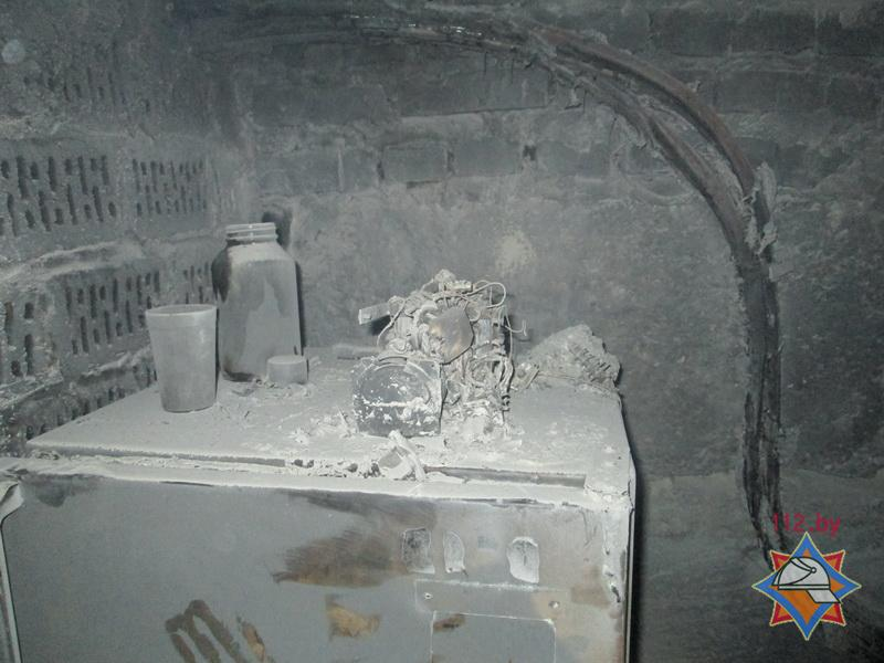 Пожар в квартире в Кобрине