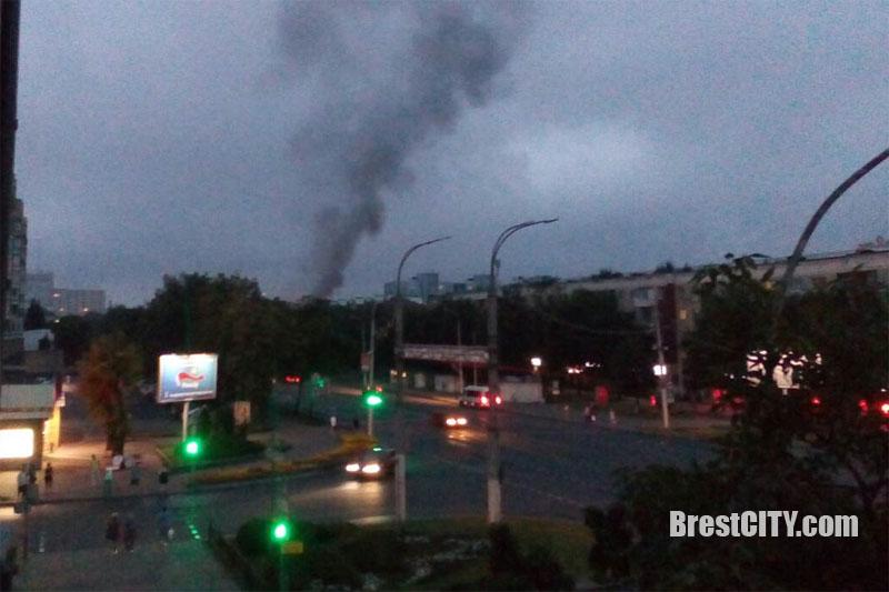 Пожар в Бресте 25 июля 2017