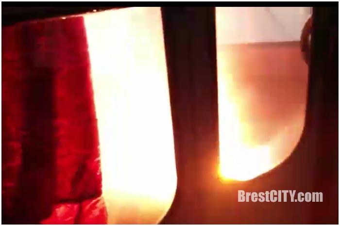 Возгорание в троллейбусе в Бресте
