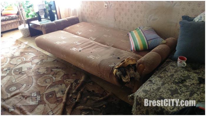 Пожар в квартире в Бресте