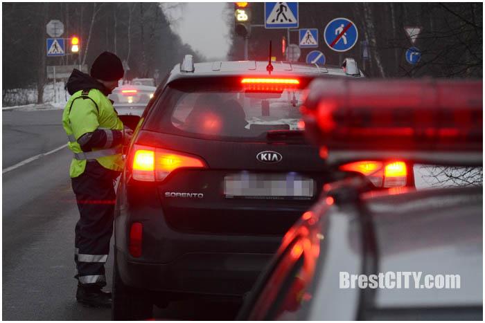 Рейд с ГАИ в Бресте. Фото BrestCITY.com