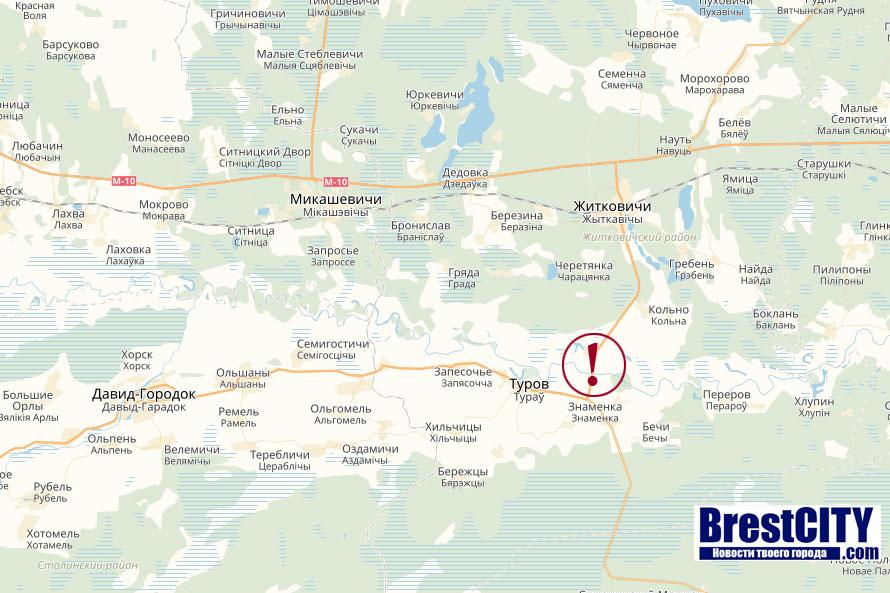 Треснул мост в Житковичах