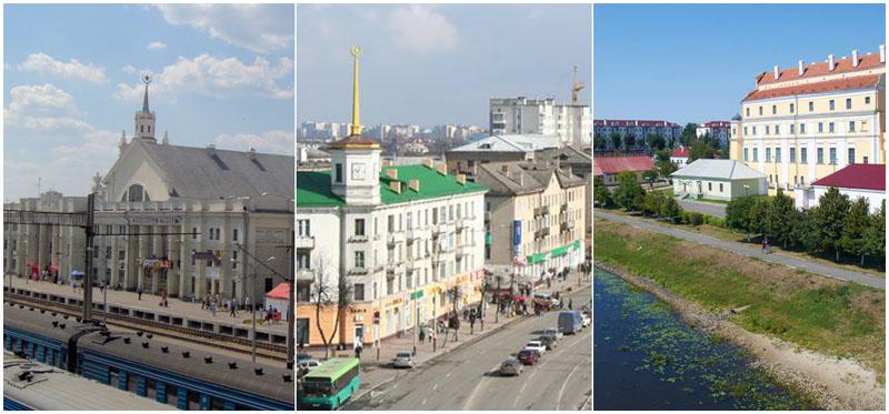 Города Брест-Барановичи-Пинск