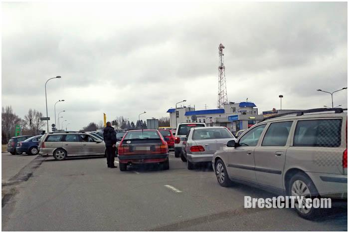 Заблокирован крепостной проезд. Фото BrestCITY.com