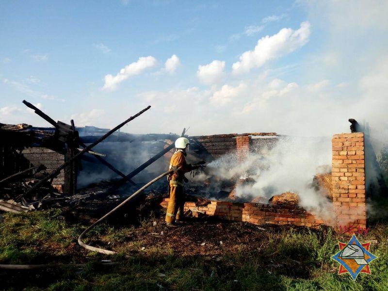 Пожар в Дрогичинском районе