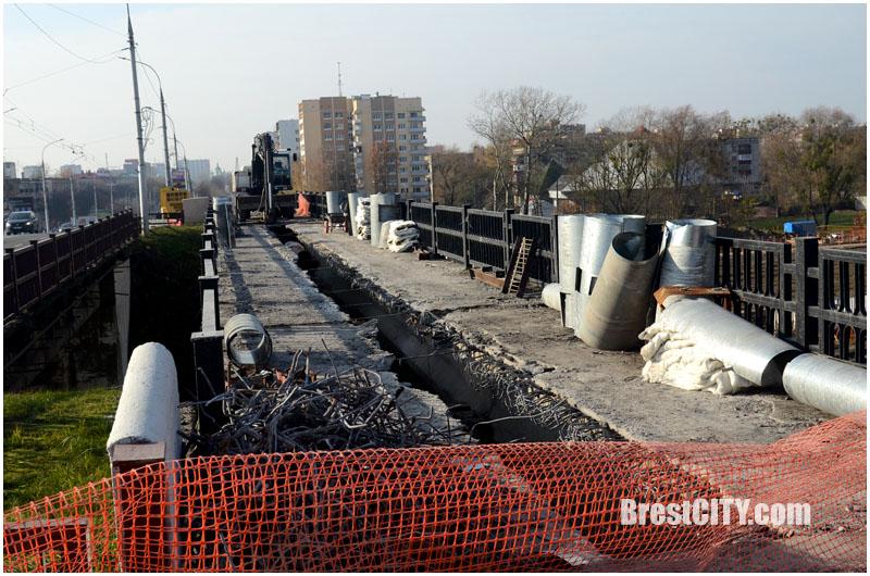 Демонтаж Кобринского моста в Бресте. Фотографии