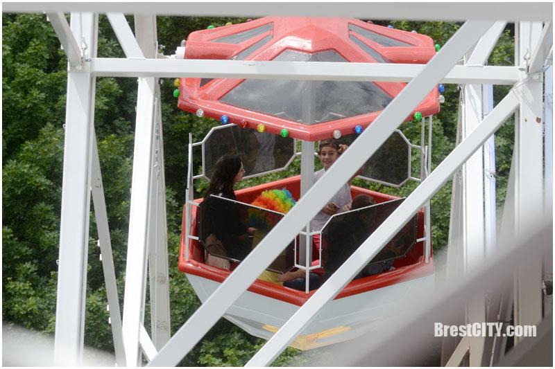 Что видно с нового колеса обозрения в Бресте. Фото BrestCITY.com