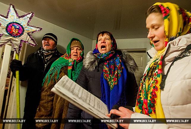 В Брестском районе колядуют на Рождество