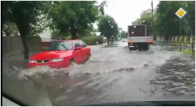 Дождь в Бресте 13 июля 2017