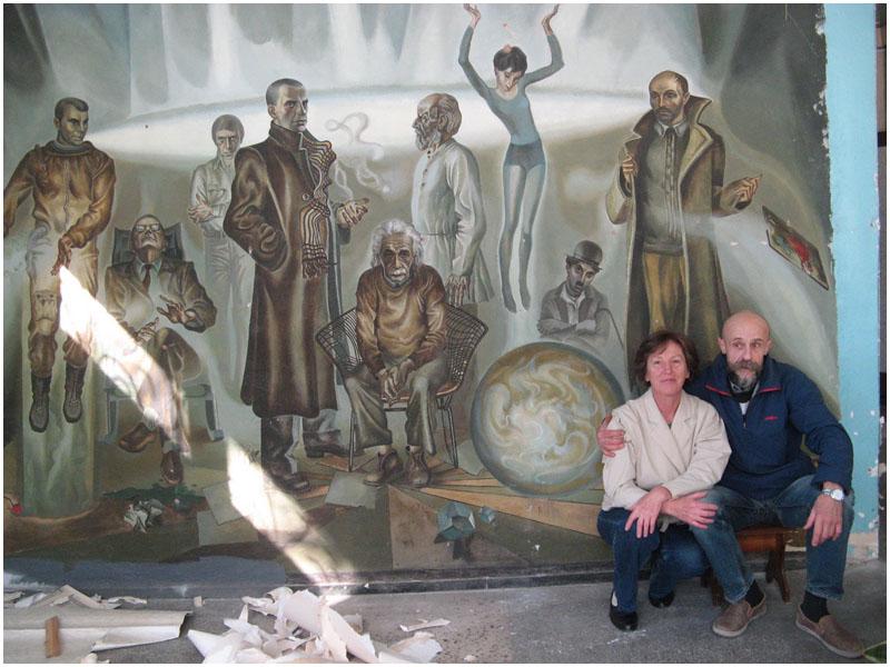 Куфко со своей картиной 30 лет спустя