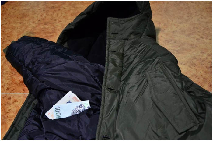 Куртка с деньгами