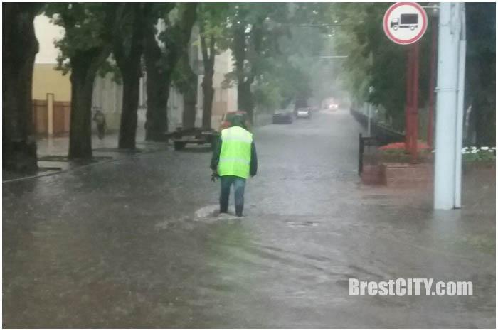 Ливень в Бресте утром 28 июня 2017