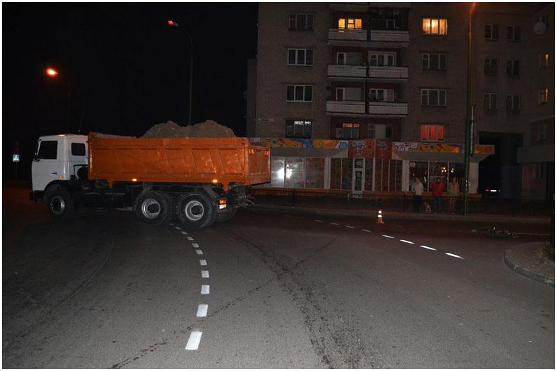 Маз сбил мальчика на бульваре Шевченко в Бресте
