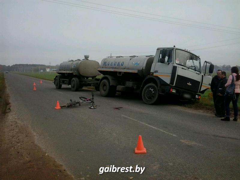 Авария с МАЗом в Пружанском районе