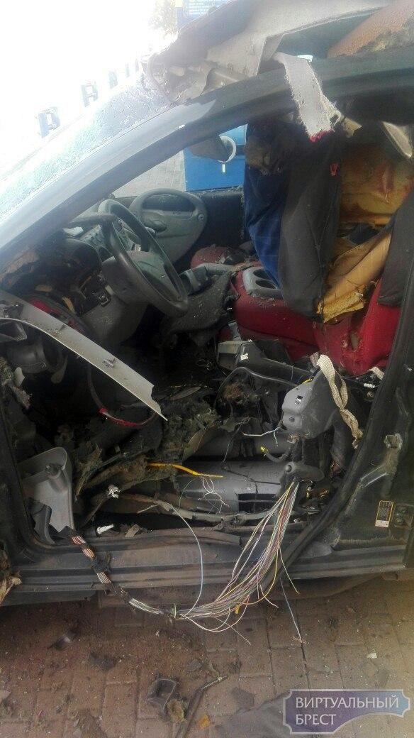Взорвался баллон в автомобиле