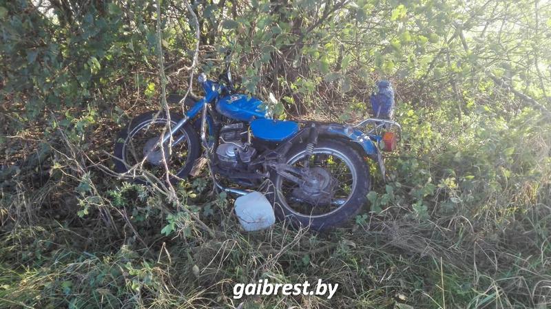 Лобовое столкновение на мотоциклах
