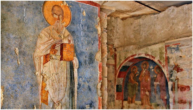 Фреска в церкви Святого Николая, Демре, Турция
