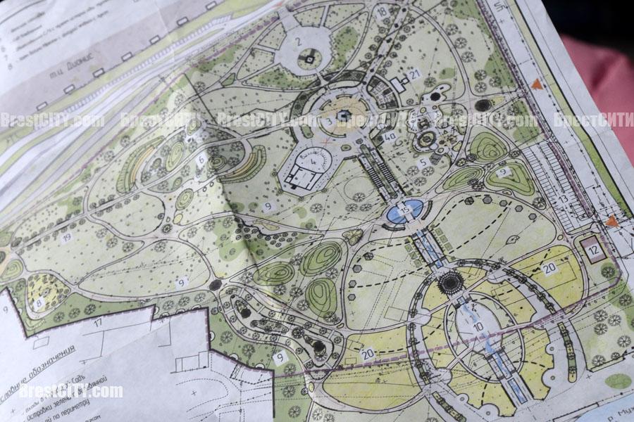 План старого городского сада