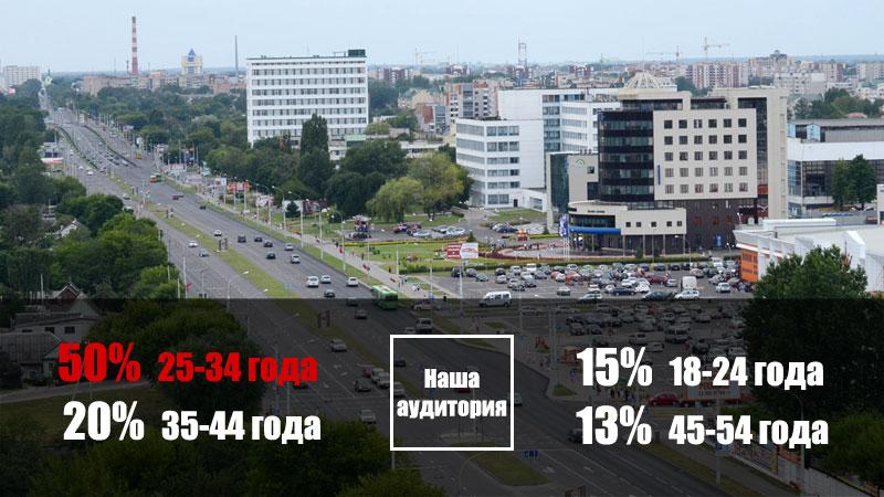 Статистика посещений сайта БрестСИТИ