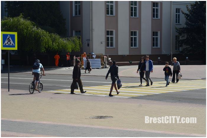 Ремонтные работы на ул.Ленина в Бресте