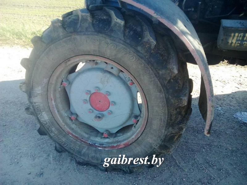 Авария Рено с трактором