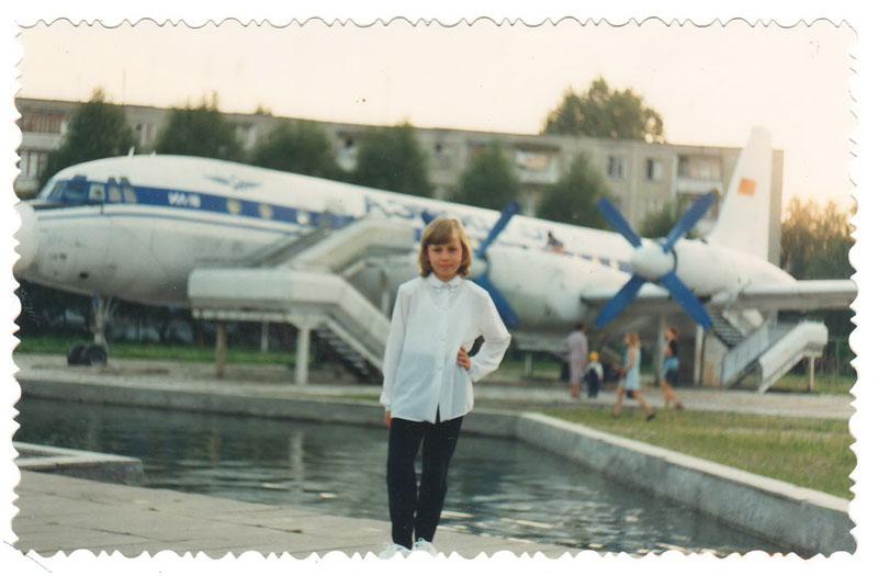 Брест моего детства: самолет Ил-18 на улице Гаврилова