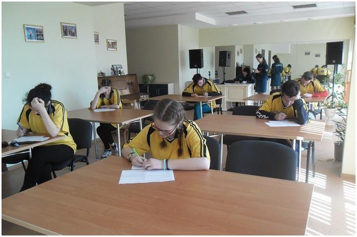 Соревнования школьников по пожарному делу