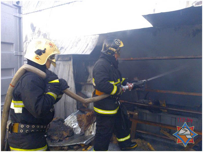 Пожар на складе в Бресте 2 марта 2017