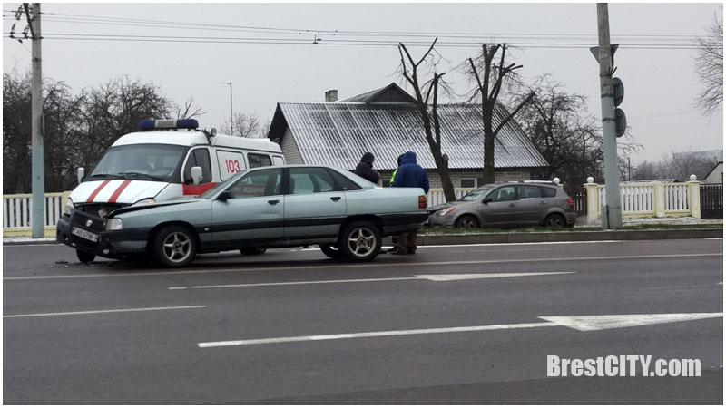 Авария скорой в Бресте