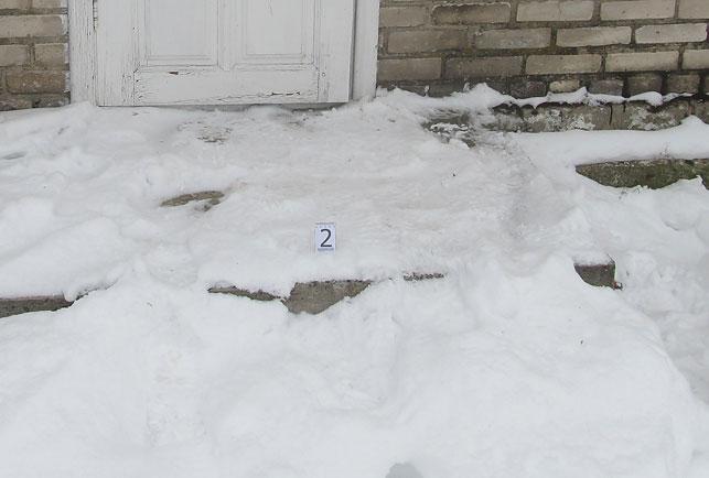 Следы вора на снегу