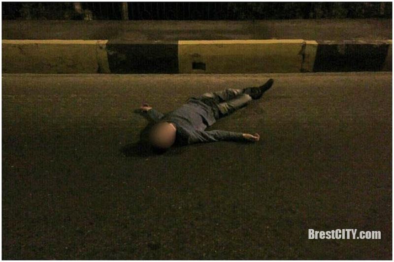 Заснул на дороге
