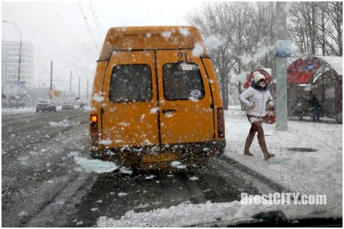 Снежный февральский Брест. Фото BrestCITY.com