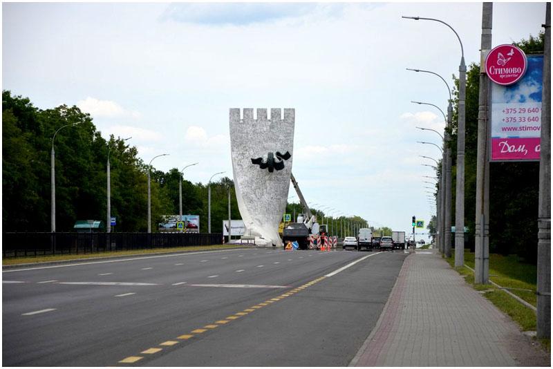 Ремонт стелы на въезде в Брест