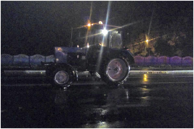 Трактор наехал на пешехода