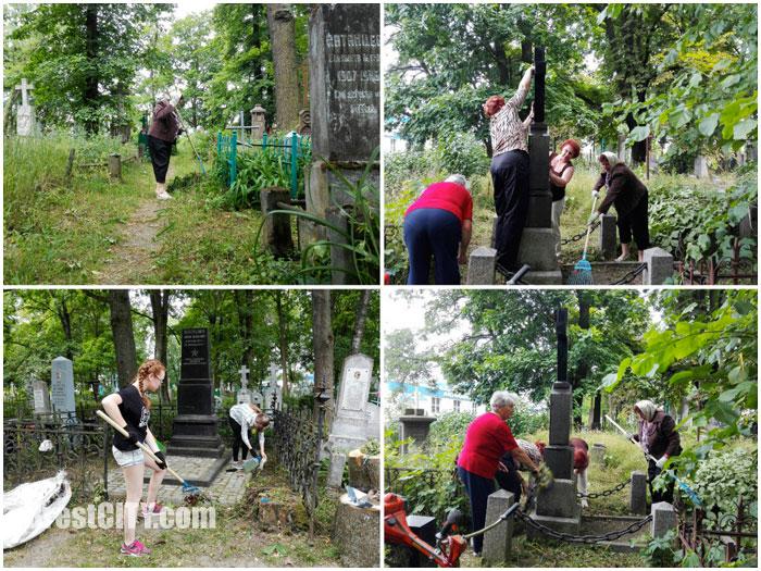 Субботник на Тришинском кладбище в Бресте