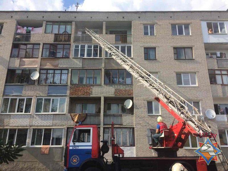 Пожар на улице Вишневой в Бресте