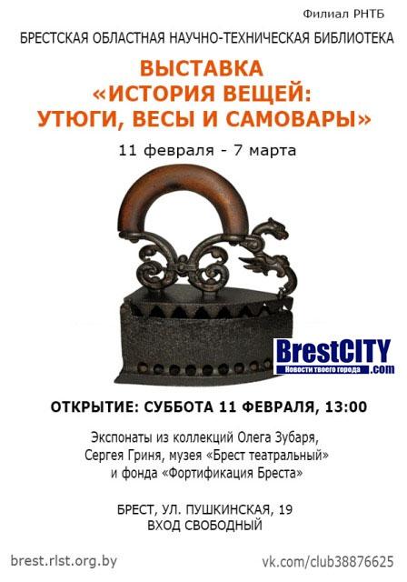 Выставка утюгов в Бресте