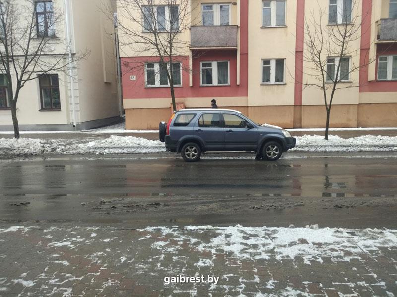 Авария 18 января на К.Маркса в Бресте